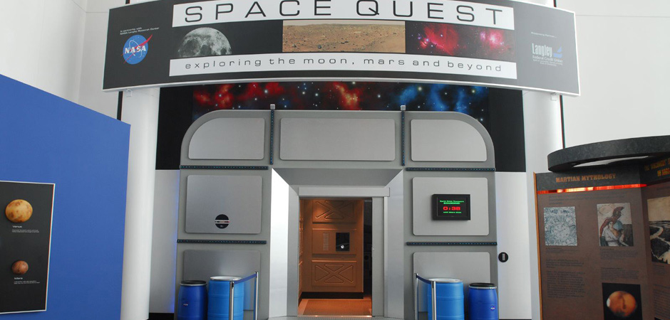 Space Quest entrance doors