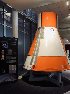 Gemini capsule on display.