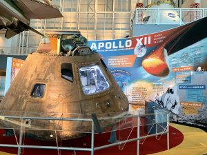 Apollo capsule in new home.