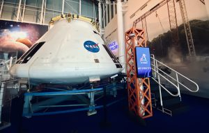 Orion test capsule on display.