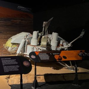 Viking Lander replica on display.