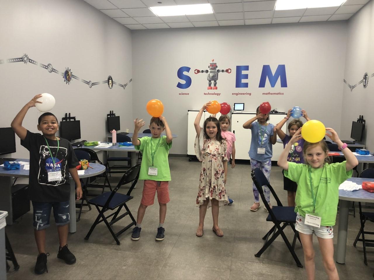 Kids at Camp NASA.