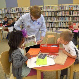 Educator teaching outreach.